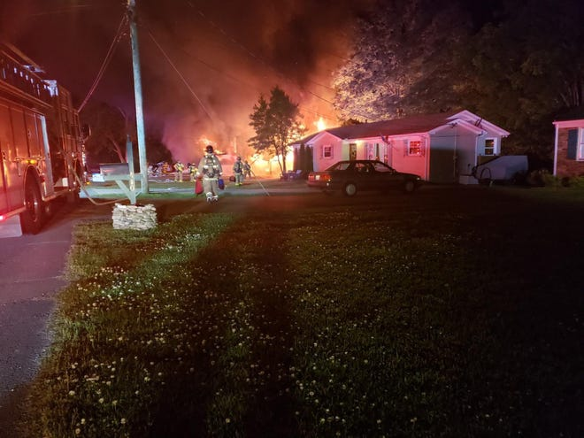 The Franklin Fire Department is investigating a house fire on Roberts Street in Franklin. A father and son narrowly escaped the blaze.