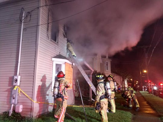 Newark firefighters responded to a fire on North Buena Vista Street on Monday, May 18, 2020.