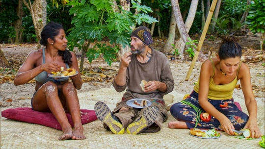 """Natalie Anderson, Tony Vlachos and Michele Fitzgerald on the three-hour season finale episode of """"Survivors: Winners At War."""""""