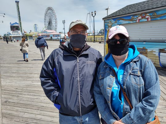 Roy and Judy Buffa, Seaside Heights, May 19, 2020
