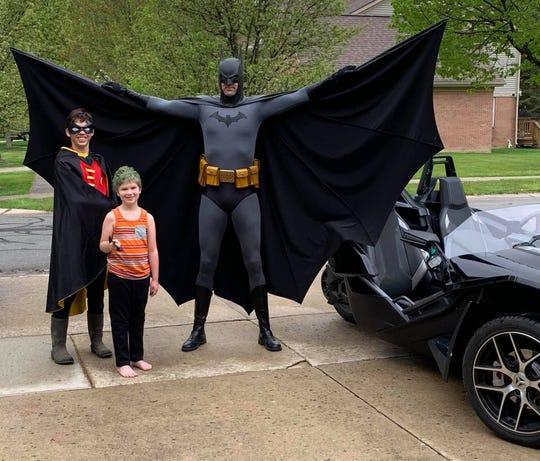 Batman, aka Tom Burger, is making birthday celebrations memorable during the coronavirus pandemic.
