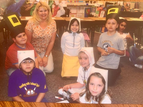Carrie Collins taught Ashley Westwood (sitting cross-legged in the white bonnet) in third grade at Conley Elementary School in Chandler in 2006-2007.
