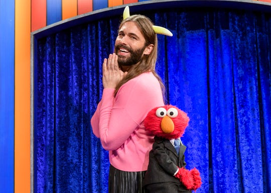 Jonathan Van Ness of 'Queer Eye' is one of the guests on 'The Not Too Late Show with Elmo,' one of the original shows streaming on HBO Max.