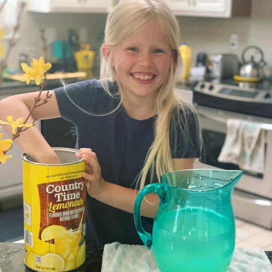 When 8-year-old Harper Covert received a lemonade stand for an Easter gift, she wanted to get started right away with serving up refreshing treats for her neighbors.