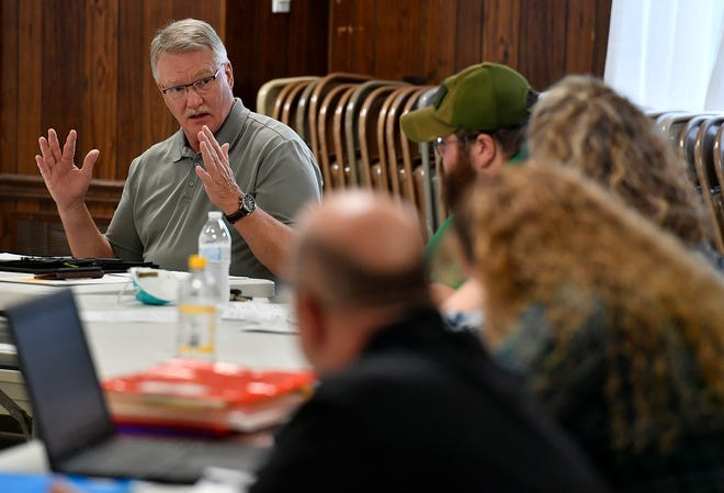 Northeastern Regional Police Board Chairman Dave Naylor discusses options to ensure member townships and boroughs are paying a fair share of the department's budget, Monday, May 18, 2020.John A. Pavoncello photo