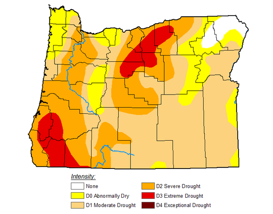 Extremely low stream flow and hot, dry conditions are leading to increasing levels of drought in southwest and central Oregon.