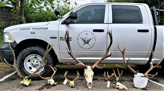 Police included this evidence with charges against four Oregonians of poaching and other wildlife crimes.