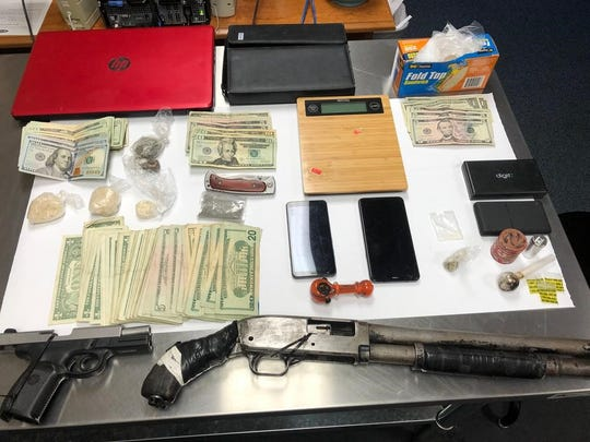 Tom Green County Sheriff's deputies located weapons, money, narcotics and drug paraphernalia 100 block of East L Street around 6:30 a.m. Tuesday, May 19.