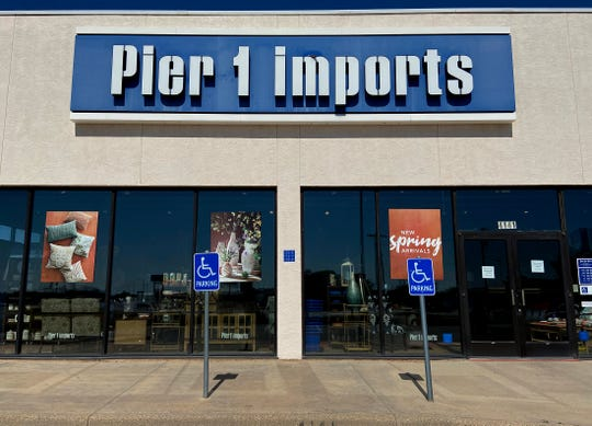 Pier 1 Imports announced it has filed a motion seeking Bankruptcy Court approval to shut down all stores including the San Angelo location seen here in this Tuesday, May 19, 2020 photo.