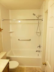 A newly renovated bathroom in Dover done by Herl's Bath and Home Solutions.