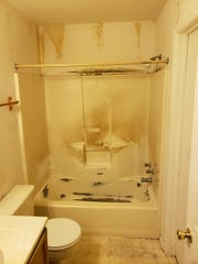 A bathroom in Dover before renovations from Herl's Bath and Home Solutions.