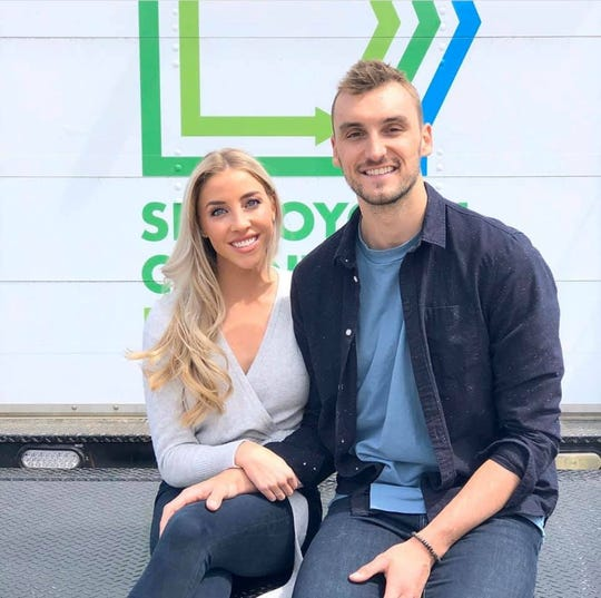 Olivia Harlan Dekker and Sam Dekker were featured in a Sheboygan County Food Bank PSA, released Wednesday, May 20, 2020.