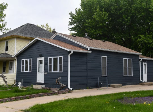 A house involved in a single-family rehabilitation program stands on Main Street on Tuesday, May 19, in Sioux Falls.