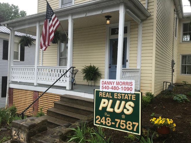 A home listed for sale on North Madison Street in Staunton.