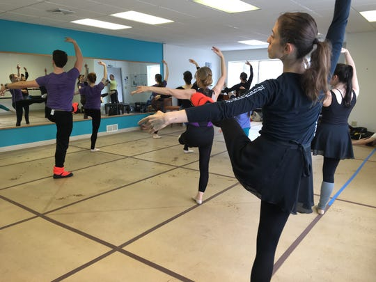Samantha Collen participates in a master classheld at Central Minnesota Ballet Academy in January.