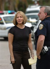 Kim Bailey, shown during a February 2005 incident in Port St. Lucie. She was off-duty in a bank that was robbed, and officials ultimately apprehended the alleged robber.