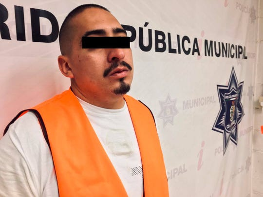 Juan Antonio B. of El Paso was arrested after police said he was found in possession of a gold-plated gun in Juárez, Mexico, in May 2020.