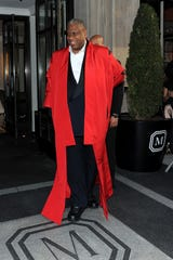 Andre Leon Talley departs The Mark Hotel for the Met Gala at the Metropolitan Museum of Art on May 4, 2015 in New York City.