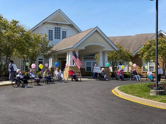 On Mother's Day, Five Star Senior Living residents enjoyed a parade of cars filled with friends and loved ones, all while maintaining proper social distance.