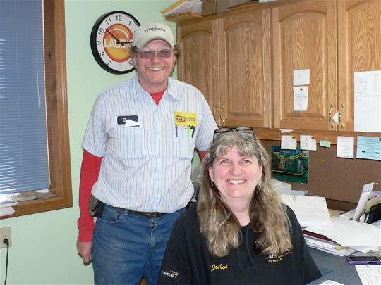 "David and JoAnn Wiederholt have owned and operated Riverdale Ag Service since 1983.  David says his farmer customers are ""keeping on farming."""
