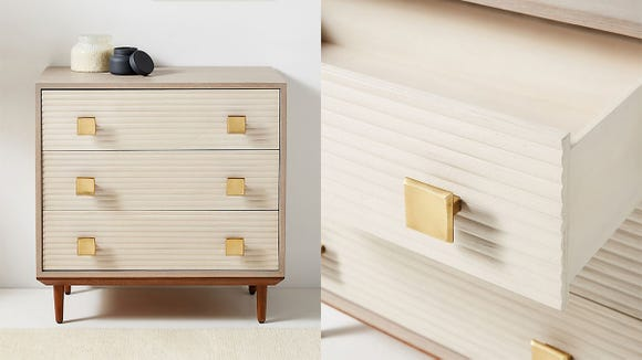 This über-stylish dresser is stylish and roomy.
