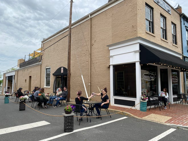 """It was a crazy busy weekend,"" Jenn Robinson, owner of Denim & Pearl Restaurant in Warrenton, Virginia, said. ""Just on Saturday, we did in sales what we had done the entire previous week just with curbside and delivery."""