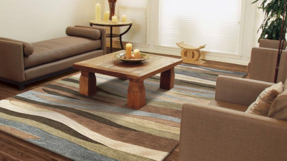 This muted rug can blend right in with anything.