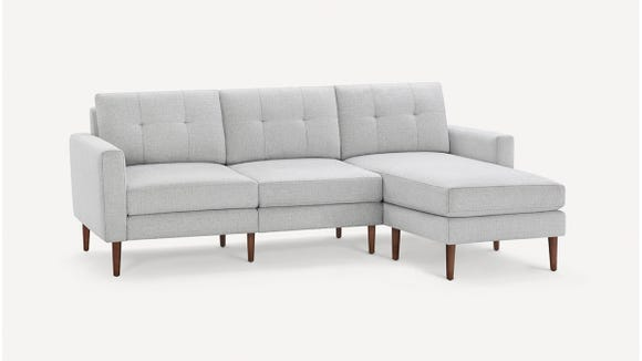 Create the sectional of your dreams with this customizable couch.
