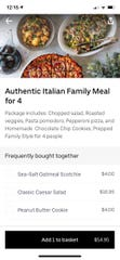 """Uber Eats launched """"Family Meals,"""" making it easier to order larger portions and value meals from nearby partnering restaurants."""