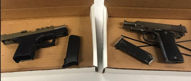 Two Oxnard men in possession of loaded and concealed handguns were arrested on Monday.