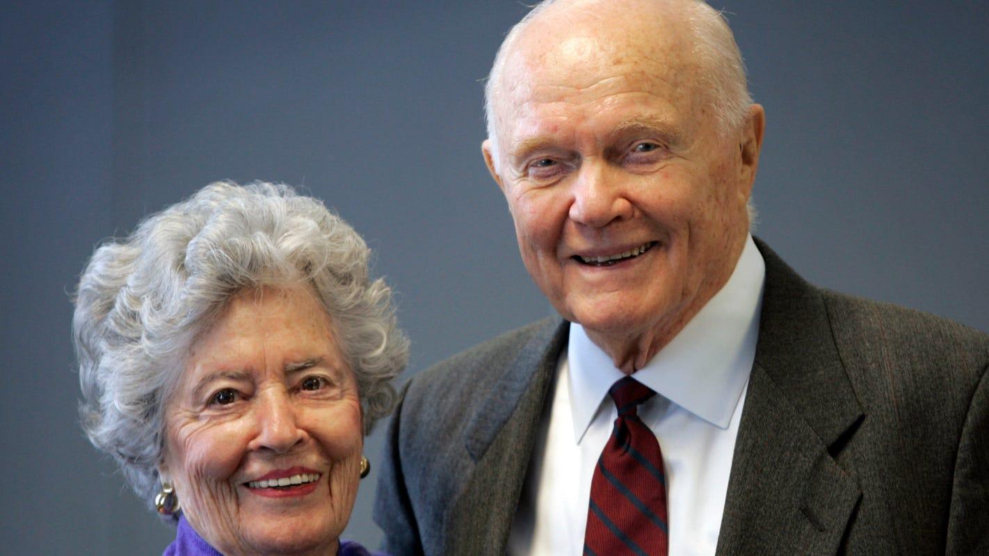 Annie Glenn, widow of former astronaut and U.S. Senator John Glenn, dies at 100