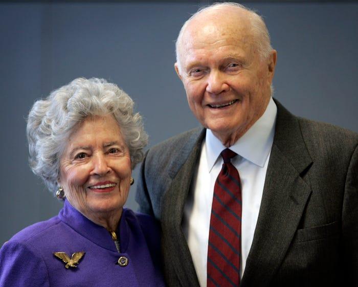 Annie Glenn, widow of former astronaut John Glenn, dies at 100 of complications from COVID-19