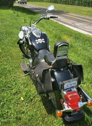 Michigan State Police said this motorcycle was stolen from a Leroy Township home on Tuesday.  Provided
