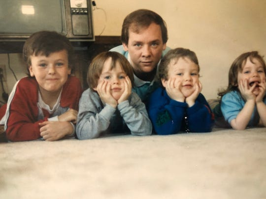 This undated photo of the McGlashen family shows (L-R) Brandon (B.J).), Jordan, John, Collin and Kaitlin. John died in January of 2020 after a two-year battle with cancer. Jordan died on May 7 from a suspected drug overdose.