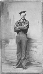 Well Wentz (aka John Stocking) in his naval uniform.