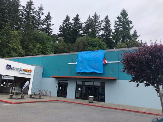 The former Olympic Cinemas on Riddell Road in Bremerton is under renovation, planned to become a movie house and restaurant operated by the owners of the Tracyton Pub.