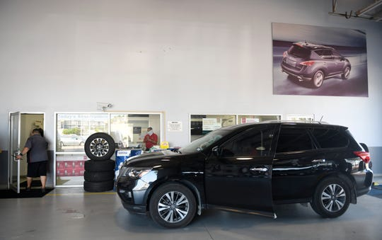 Charlie Hicks discusses the auto industry's response to the coronavirus, Wednesday, May 20, 2020, at Ed Hicks Nissan. Hicks is the owner of the Ed Hicks dealerships.