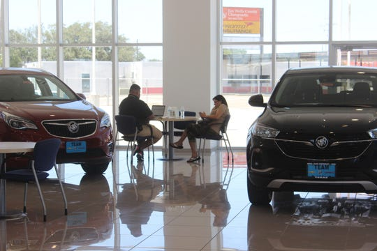 A view of inside Alice Chevrolet Buick GMC in Alice on Wednesday, May 18, 2020. The dealership is among the South Texas businesses that have adapted to serve customers during the coronavirus pandemic.