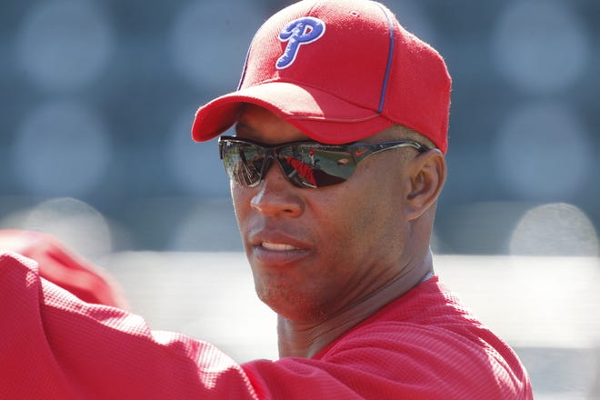 Milt Thompson, a former outfielder with the Philadelphia Phillies and their hitting coach on the 2008 World Series championship team, agreed to be the new coach for the Scanzano Sports and Performance Academy, a local post-graduate program for 2020 baseball players.