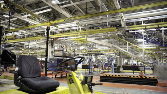 The inside of Lordstown Motors assembly plant in Lordstown, Ohio. It is being retooled to build the all-electric Endurance pickup starting in 2021.