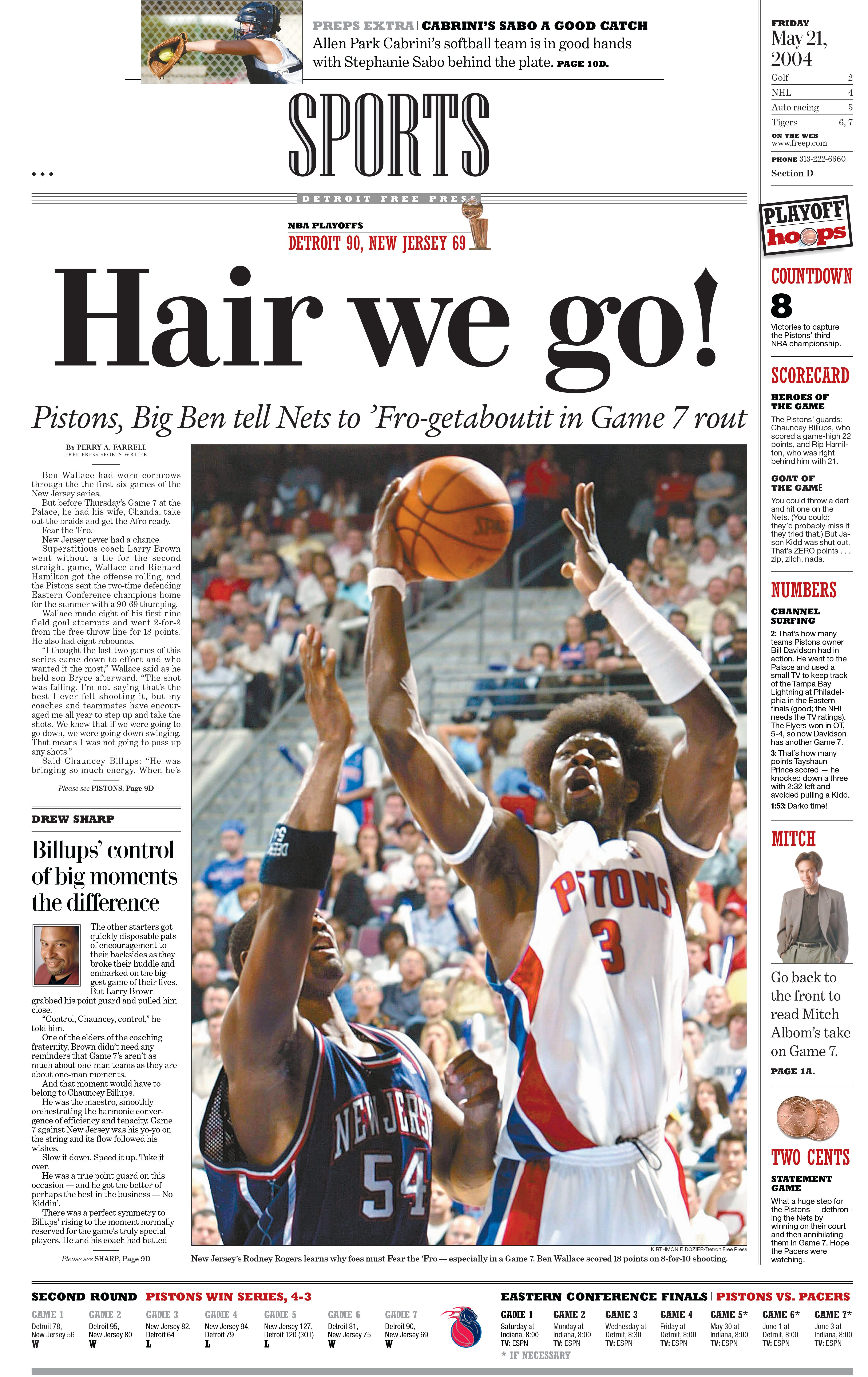 Detroit Pistons Game 7 Suffocation Of Nets A Masterpiece By 04 Champs