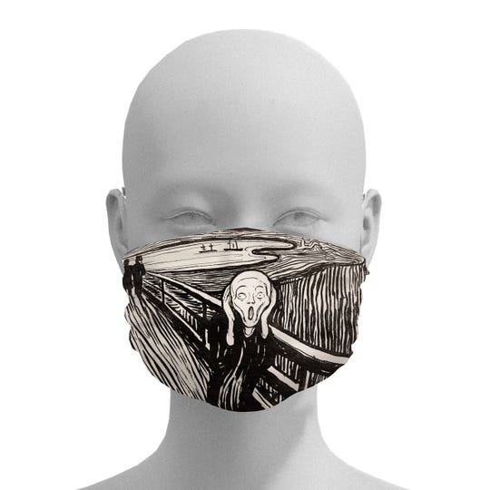 """The Detroit Institute of Arts is selling fine-art face masks, of which Edvard Munch's """"The Scream"""" is one of the most popular. (At present, the DIA is sold out; new masks will be available in mid-June.)"""