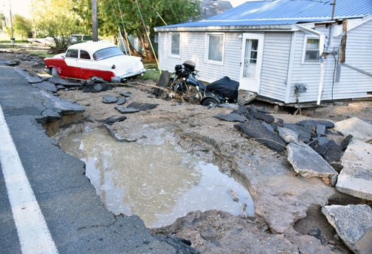 Flood damage near the Edenville Bridge after the dam collapsed. Attorney Geoffrey Fieger filed two proposed class-actionlawsuits Thursday seeking $500 million for  flood victims.