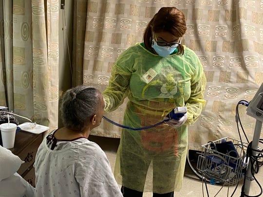 A SKLD resident is monitored for coronavirus symptoms.