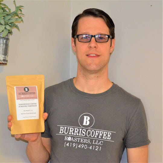 Daniel Burris researched the science behind roasting coffee beans and experimented with techniques to ensure he could provide consistent flavor before starting Burris Coffee Roasters last year.