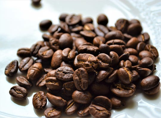 Freshly roasted coffee beans from Burris Coffee Roasters. The coffee can be ordered online through the company website.