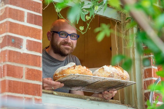 Alex Kascak has been making good use of his time at home baking  bread. Wednesday, May 20, 2020.
