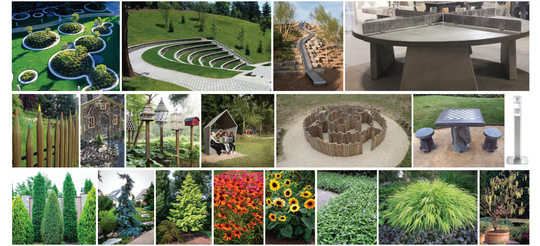 A series of images of park elements are being used as inspiration to design a future park in Howell.