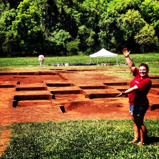 Abigail Diaz was an archaeologist at James Madison's Montpelier in Virginia.