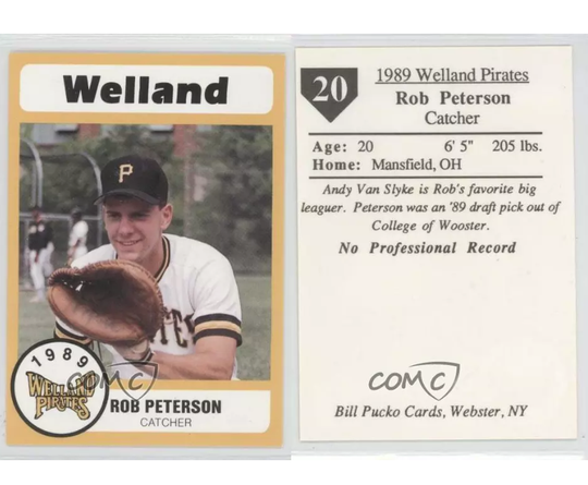 Madison Comprehensive High School superintendent Rob Peterson is one of very few people to have his very own baseball card as he spent the 1989 and 1990 seasons playing for the Welland Pirates.